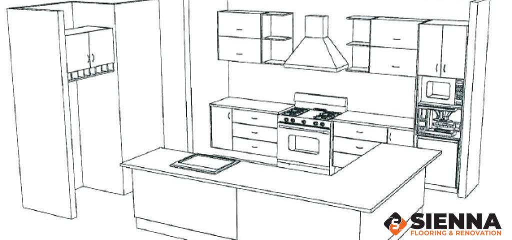 floor plan of kitchen sienna renovation and flooring